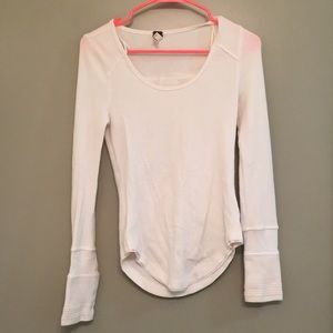 White Free People Henley